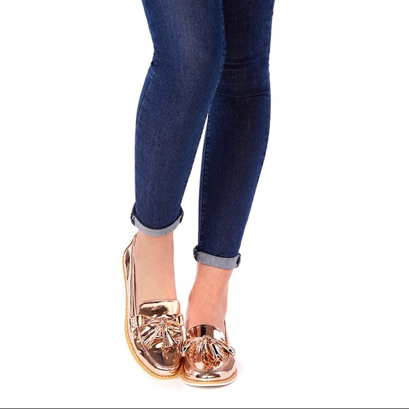a42545b8823 💕JustFab Anna-Kora Rose Gold Loafers!😍💕